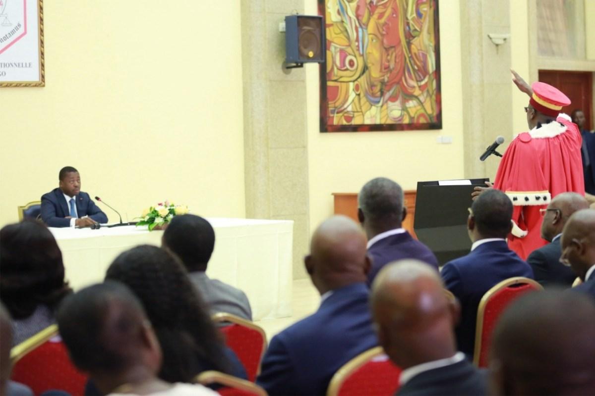 Togo / Cour constitutionnelle : les nouveaux juges ont prêté serment devant Faure Gnassingbé ce lundi