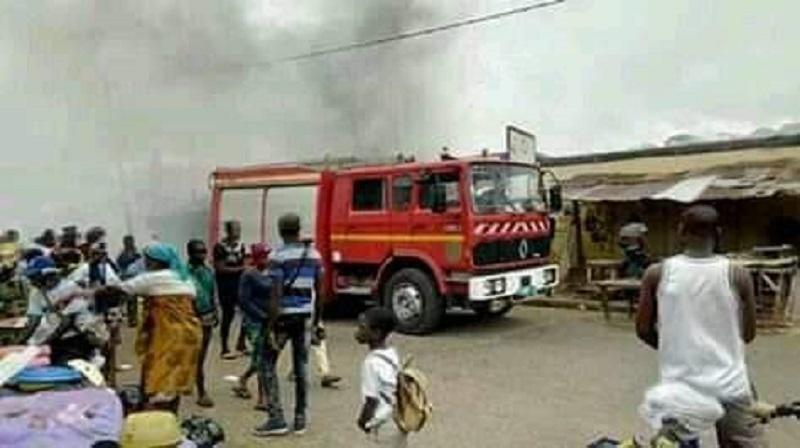 Togo, incendie, grand marché, Atakpamé, mardi 21 mai, dégâts majeurs