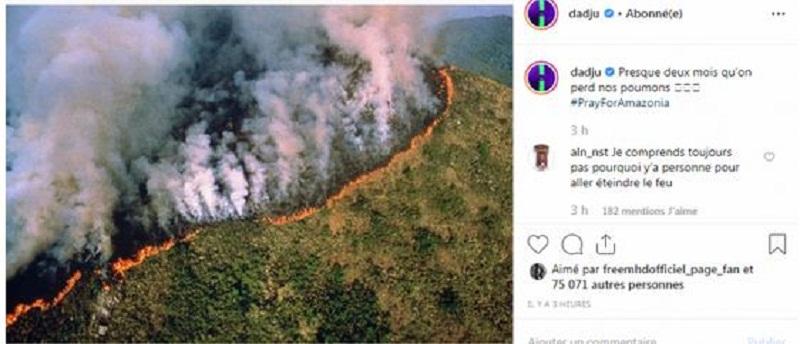 La forêt amazonienne en feu ; Dadju et Kylian Mbappé expriment leur inquiétude (2)