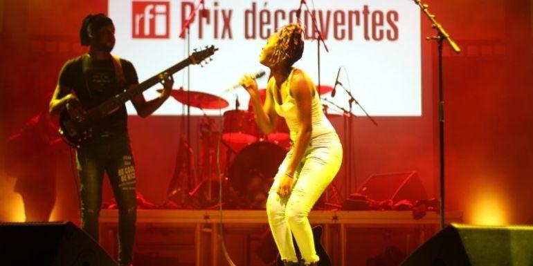 TOGO/Concert Prix Découvertes RFI : Céline Banza a mis le public togolais dans sa poche !