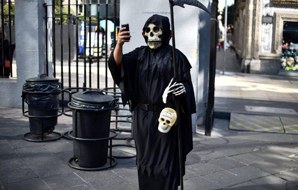 Selfie, enfer, Chine, touriste, pont