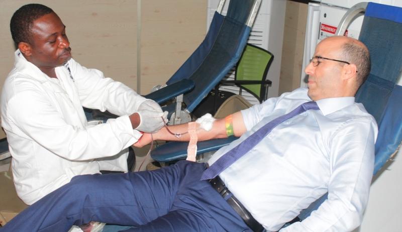 Abdellah Tabhiret, Directeur Général, Moov Togo, Moov, sang, don, Centre national de Transfusion sanguine, CNTS,
