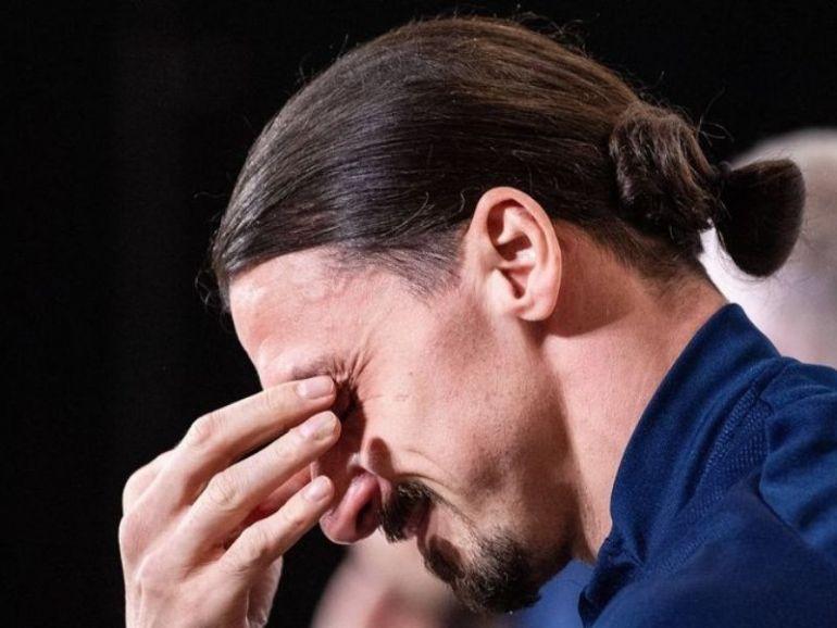Zlatan Ibrahimovic en larmes Je suis humain, même si je suis superman