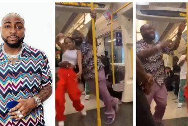 Cette vidéo de Davido en train de danser avec une inconnue dans un train fait le buzz