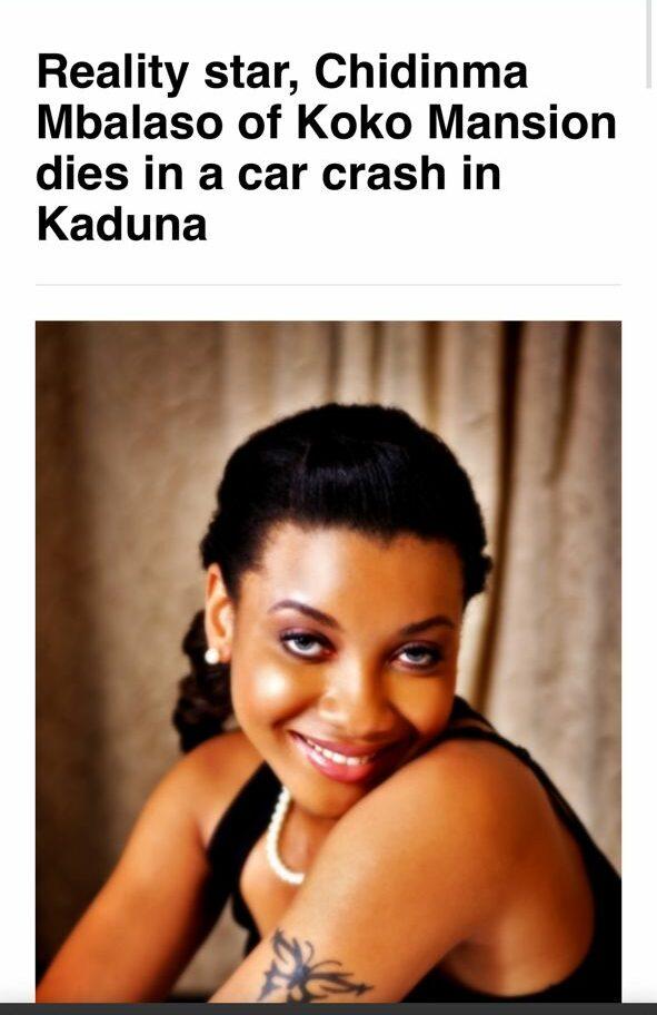Décès de Chidinma : les internautes énormément choqués par cette triste nouvelle