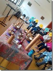 Naissance des ateliers Bols Tibétains & Cie, Thérapie vibratoire, Groupe.