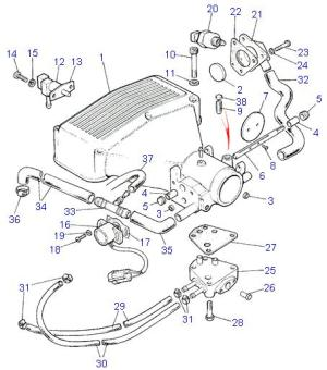 Land Rover Parts  39 efi V8  PLENUM CHAMBER & HOSES