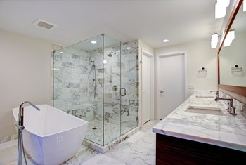 tile edge in a shower with no bullnose