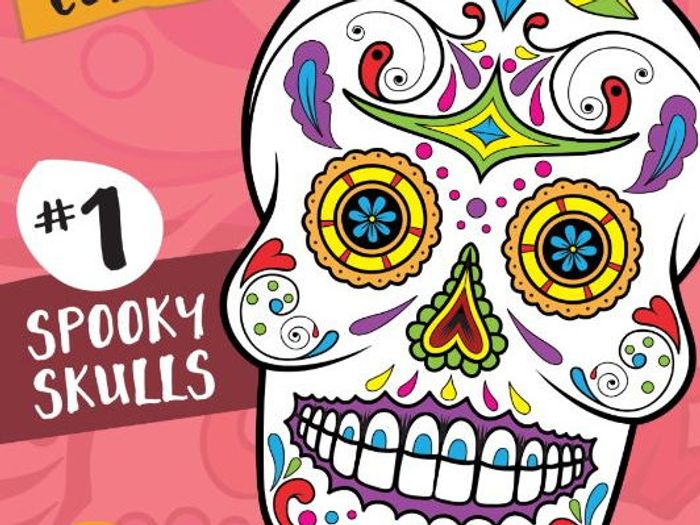 Sugar Skull Color Fun 1 Spooky Skulls Coloring Book Teaching Resources