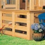 """Männer Geschenk: Terrasse für Haus Jütland und Haus Giropn in naturbelassenem Holz Karibu bei """"Westfalia"""""""