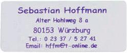 Adress Etiketten Schrift violett, ohne Rand, selbstklebend 300 Stck Westfalia