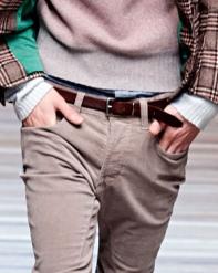 Skinny brown belt at D&G
