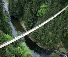 Capilano Suspension Bridge in Northern Vancouver, Canada