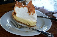 Key lime pie, the official desert of Florida