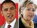 (L-R) HIllary Clinton (AP); Barack Obama (AFP)