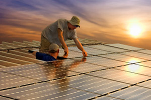 Solar panel installers (iStockPhoto)