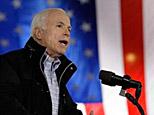 Republican presidential candidate Sen. John McCain, R-Ariz., speaks at a rally at the University of Northern Iowa in Cedar Falls, Iowa, Sunday, Oct. 26, 2008. (AP)