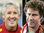 (L-R) Pete Carroll (Otto Greule Jr/Getty Images); Will Ferrell (Ben Liebenberg/WireImage)
