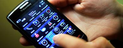 The BlackBerry Storm2 for Verizon (AP file photo)