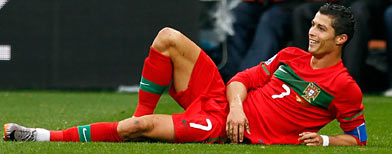 Cristiano Ronaldo of Portugal (Photo by Lars Baron/Getty Images)