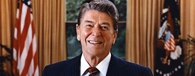 President Ronald Reagan, official portrait, 1985 (White House)