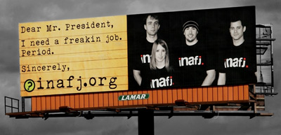 Billboard in Buffalo,NY that reads INAFJ