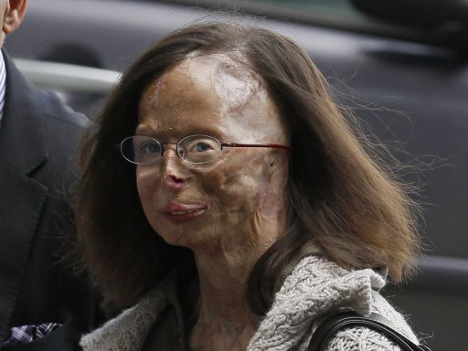 Patricia Lefranc arrives at Justice Palace to attend the trial of Richard Remes in a court in Brussels
