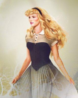 "Princess Aurora of ""Sleeping Beauty"" looks like a supermodel. Those cheek bones!"