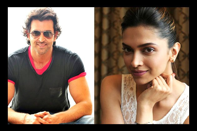 Deepika and Hrithik Roshan