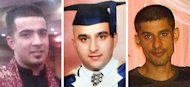 In this combo image of undated photographs provided by family on Wednesday, Aug. 10, 2011, from left, Haroon Jahan, Shazad Ali and Abdul Musavir who were killed when a car crashed into them on Tuesday, Aug. 9, 2011, as they protected their community from looters in Birmingham, England. British police launched a murder investigation into the deaths of three men hit by a car in Birmingham on Tuesday, Aug. 9 who residents said were members of Birmingham's South Asian communities who had been patrolling their neighborhood to keep it safe from looters. (AP Photo/PA) UNITED KINGDOM OUT, NO SALES, NO ARCHIVE