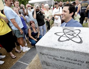 David Silverman, president of American Atheists, poses …