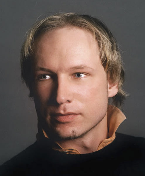 This is an undated image obtained from the Twitter page of Anders Behring Breivik, 32, who was arrested Friday July 22, 2011 in connection to the twin attacks on a youth camp and a government building in Oslo, Norway. Breivik is a suspect in both the shootings and the Oslo explosion Friday. (AP Photo/Twitter, Anders Behring Breivik)