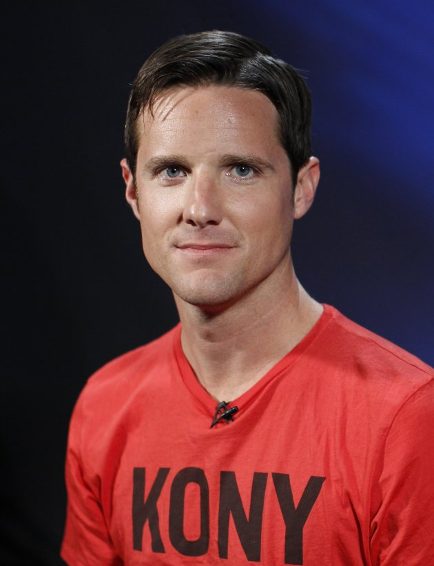 """Jason Russell, co-founder of non-profit Invisible Children and director of """"Kony 2012"""" viral video campaign, poses in New York"""