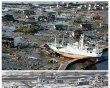 Combo photo shows the tsunami-devastated …