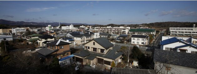 A view of Tomioka town in …