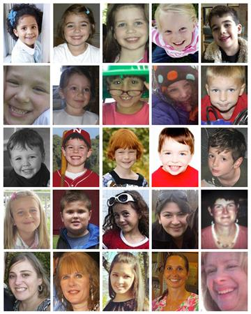 Victims of the Sandy Hook Elementary School shootings in Newton