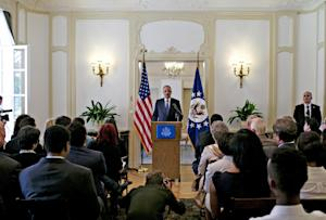 US attorney general Eric Holder speaks at the US ambassador's …