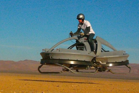 Hover vehicle similar to Star Wars' speeder bike