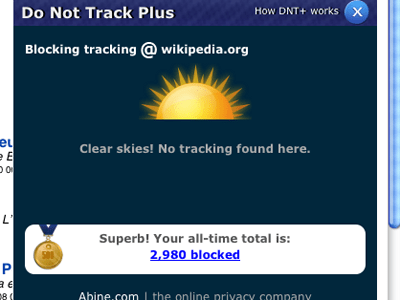 Do Not Track Plus