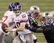 New York Giants quarterback Manning is sacked by New England Patriots