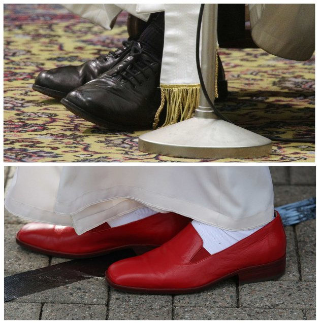 Combo picture shows the shoes …