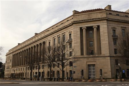 The Justice Department building is seen in Washington on March 4, 2012. REUTERS/Gary Cameron