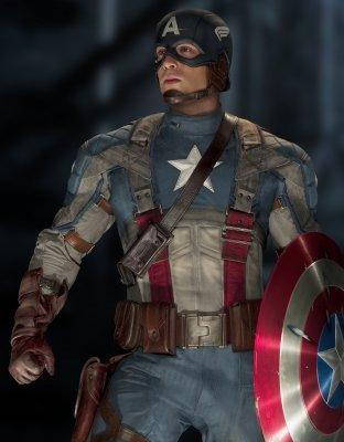"Chris Evans stars as Captain America/Steve Rogers in ""Captain America: The First Avenger"" -- Paramount"