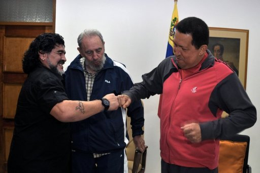 Handout photo released by the Venezuelan Ministry for Communication and Information …