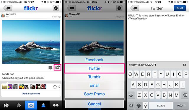 How to share on iOS
