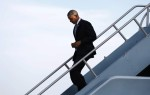 Obama arrives in San Francisco for Democratic fund raising