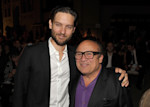 IMAGE DISTRIBUTED FOR ENVIRONMENTAL MEDIA ASSOCIATION - From left, Tobey Maguire and Danny DeVito are seen backstage at the 22nd Annual Environmental Media Awards on Saturday Sept. 29, 2012, at ...