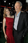"""Cast members Clint Eastwood, right, and Amy Adams pose together at the premiere of """"Trouble With the Curve"""" at the Westwood Village Theater on Wednesday, Sept. 19, 2012, in Los Angeles. (Photo by ..."""
