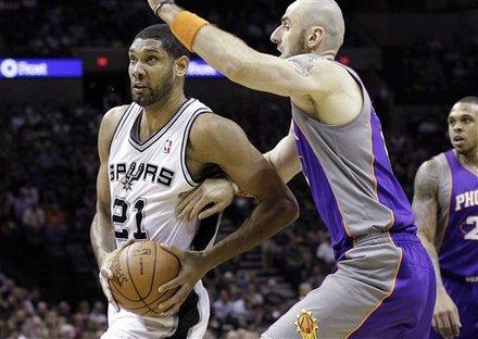Duncan foi, mais uma vez, o melhor jogador em quadra| The Associated Press