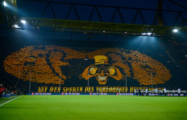 Champions League Tifo at Borussia Dortmund